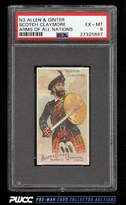 1887 N3 Allen & Ginter Arms Of All Nations Scotch Claymore PSA 6 EXMT (PWCC)