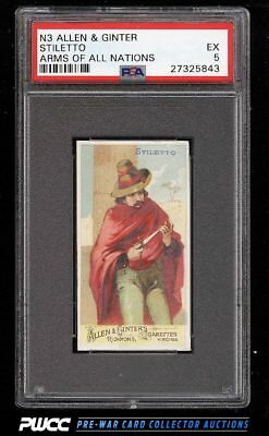 1887 N3 Allen & Ginter Arms Of All Nations Stiletto PSA 5 EX (PWCC)