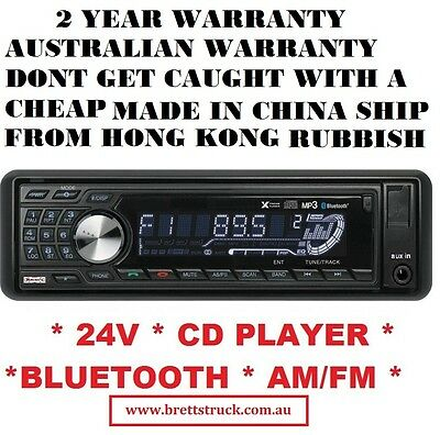 24V Radio Multi-Volt Am/fm 24 V  Bluetooth Cd Player Mp3 Receiver Truck Isuzu