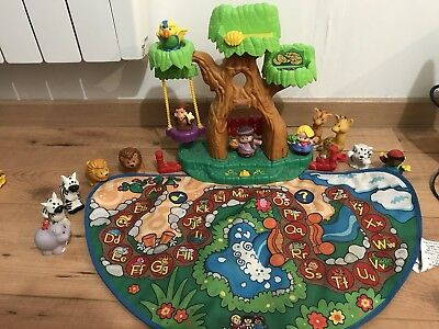 Zoo little people Fisher price Avec Tapis + Animaux + Personnages
