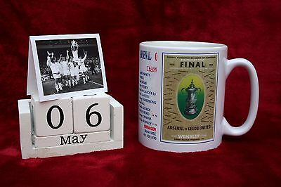 LEEDS UNITED FC MUG LEEDS UNITED FOOTBALL PROGRAMMES v ARSENAL 1972 CUP FINAL