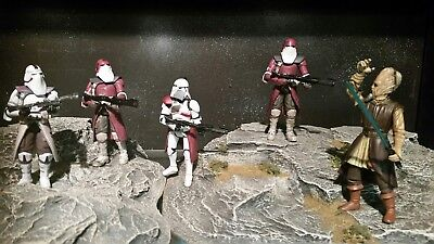 """Star wars - """" Order 66 Scene """" A lot of collectors pieces and a one of a kind !"""