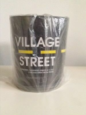 "Dept 56 Village Street - Two PVC 6""x 36"" Streets (2-Sided) & 2 Sheets Decals NEW"