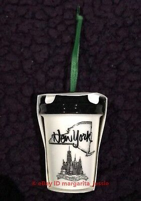 "Starbucks Us Ceramic Ornament ""Local New York"" Upstate Ny 2017 Christmas Nyc Ltd"