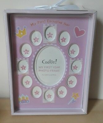 Cudlie! My First Photo Frame -Pink GirlPicture Frame for Baby's First Year NWT