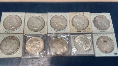 Junk Drawer Lot of (10) Liberty Silver Piece Dollar .. Dates in Description