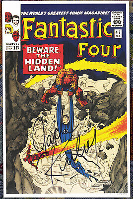 Fantastic Four #47 Jack Kirby Signed Autographed  poster '92 Inhumans