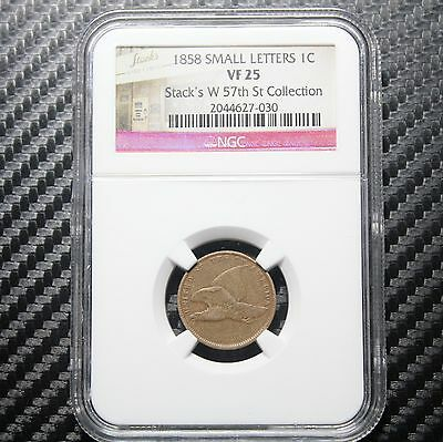 1858 Flying Eagle Cent NGC VF25 - Small Letters (27-030)