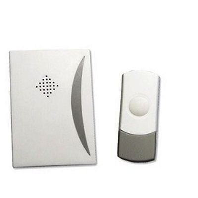 MODEL ES187 WHITE WIRE-FREE DOOR CHIME KIT WITH X2 CHIME UNITS
