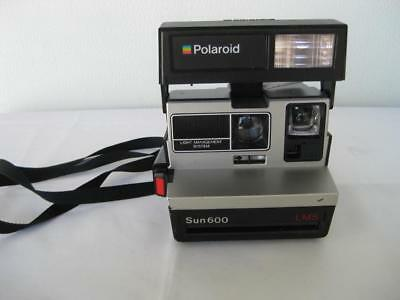 Vintage Polaroid Sun 600 LMS Instant Film Camera w Flash Tested-Working