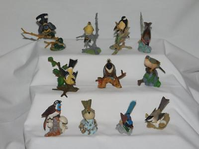 Franklin Mint 11 Pewter Bird Collection Hand Painted 1981-1983 HTF
