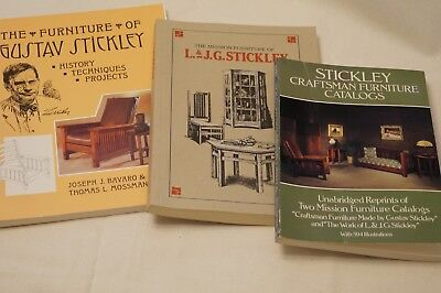 Set 3  L.& J.G.Gustav Stickley Furniture Books,Catalog Craftsman, Mission Design