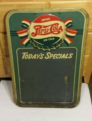 """VINTAGE 1940's PEPSI COLA DOUBLE DOT TODAY'S SPECIAL SIGN 30"""" X 19 1/2"""""""