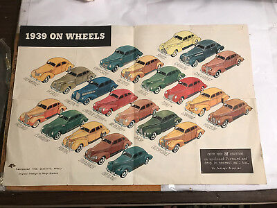 1939 Auto Car Style Census General Motors Detroit Michigan w Graphics Shows Wear