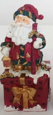 Santa Father St Nick Trinket Box great Christmas Decoration Collectible Tree