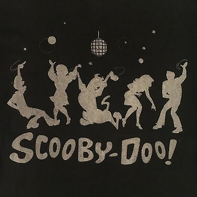 1999 black SCOOBY DOO t shirt - DISCO BALL DANCING  - licensed - NEW NWOT - (L)