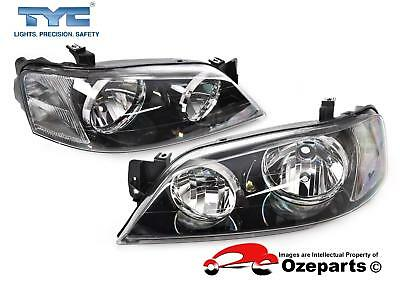 Ford Falcon BA BF Series 1 XT 02~06 Pair LH+RH Head Light Lamp Black *TYC