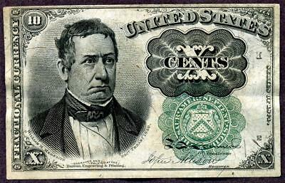 HGR SUNDAY 1874 .10cent 5th Issue ((Much RARER GREEN Seal)) HIGH GRADE