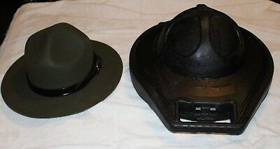 Stratton felt [US Border Patrol] campaign hat with hat trap
