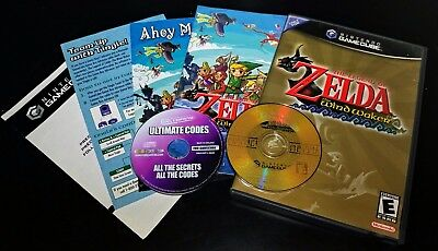 Legend of Zelda: The Wind Waker (Nintendo GameCube, 2003) & Ultimate Codes Disc!