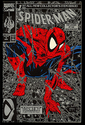 Spider-Man #1 (Silver) High Grade McFarlane First Issue Marvel Comic 1990 VF-NM