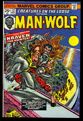 Creatures on the Loose #32 Very High Grade Man-Wolf Marvel Comic 1974 NM