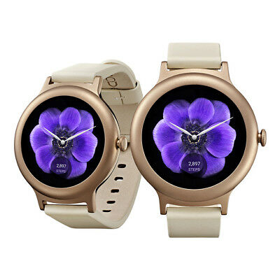 """NEW LG Watch Style W270 1.2"""" 4GB ROM Android Wear 2.0 Smart Watch ROSE GOLD"""