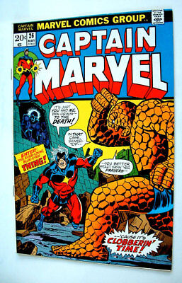 1973 Captain Marvel Issue #26 Comic Book Glossy 8.0 Condition