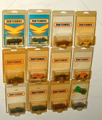 1970s MATCHBOX FOREIGN COLLECTION OF PONTIAC FIREBIRD CARS ALL MINT ON THE CARDS