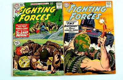 1959 Our Fighting Forces Issue #47 Comic Book And #55 Nice Condition