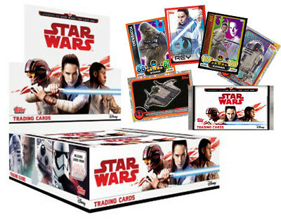 Special Journey to STAR WARS The last Jedi sealed packets, 5 card pack
