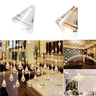 1 Luxury Glass Beads Bead curtain pendant Wedding Divider Panel Room Decor HP