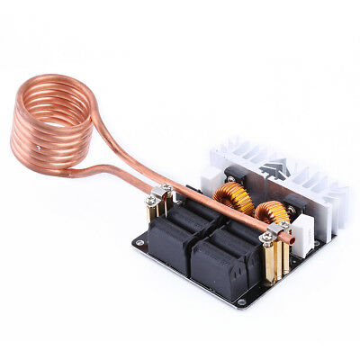 1000W ZVS Low Voltage Induction Heating Board Module coil 12-48V 20A + Brass