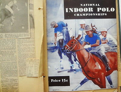 1932-1938 POLO HORSE SCRAPBOOK-70 CHOCK FULL PAGES-clippings-PROGRAMS -OHIO