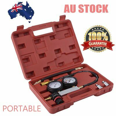 Cylinder Leak Tester Petrol Engine Compression Leakage Leakdown Double Gauge MO