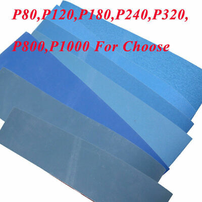 UK 3/5pcs Sanding Belts 100 x 915mm 80 120 180 240 320 800 1000 Grit Blue