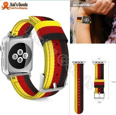 Band Replacement Woven Nylon Bracelet For 42mm Apple Watch iWatch Series 3 2 1
