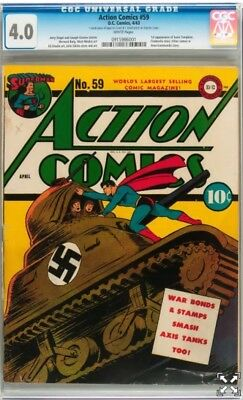 Action Comics # 59 Cgc 4.0 White Pages