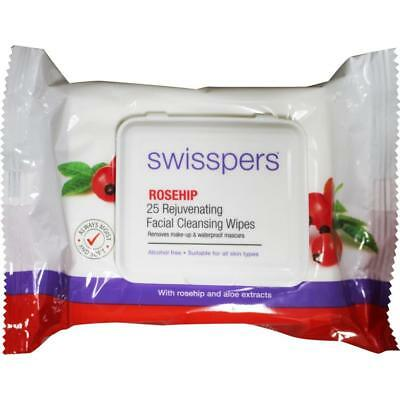 6 x Swisspers Rosehip Facial Cleansing Wipes 25pk