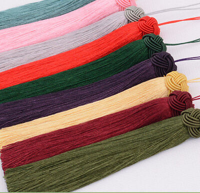 Fashion DIY hand knitting Chinese knot Tassels fringe Earring accessories pretty