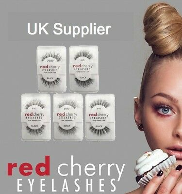 Red Cherry Eyelashes ~~ 100% Human Hair False High Quality Lashes TOP QUALITY UK