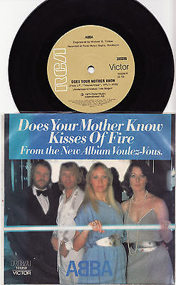 """ABBA - DOES YOUR MOTHER KNOW Very rare 1979 Aussie 7"""" P/S Single Release! M-"""