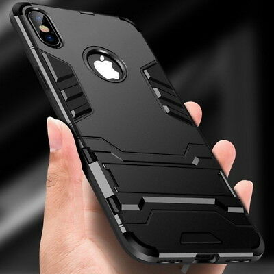 Hybrid Heavy Armor Rugged Kickstand Hard Case Cover For iPhone XS Max XR X 8 6 7