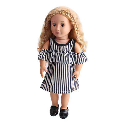 "Casual Clothes Striped Strap Dress for 18"" American Girl Our Generation Doll"