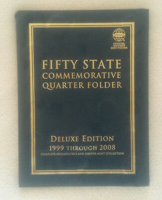 Fifty States Commemorative Quarter Folder 1999-2008 Deluxe Edition unvollständig