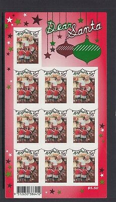 AUSTRALIA - 2010 CHRISTMAS Dear Santa Claus $5.50 Complete ENHANCED sheetlet MNH