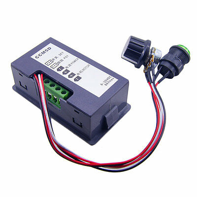 DC 6-30V 12V 24V MAX Motor PWM Speed Controller With Didital Display & Switch WW