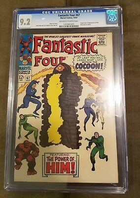 Fantastic Four # 67  CGC 9.2 OW/White Pages  Origin & First App Him (Warlock)