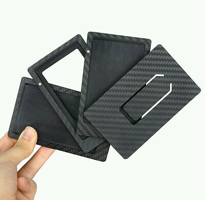 Detachable Carbon fiber card holder - 100% carbon fibre card & money clip wallet