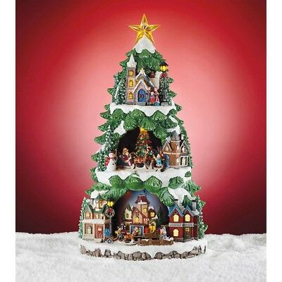 "20"" LED Animated Christmas Tree With Lights & Music 8 Songs Christmas Decor"